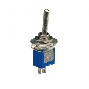 Sub-miniature toggle switch 1 x on / off - 3.2 x 8.2mm - 1A 250Vac 3A 125Vac
