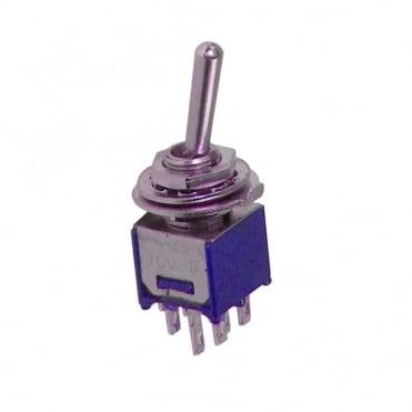 Sub-miniature toggle switch 1 x on / on - 9.2 x 8.2mm - 1A 250Vac 3A 125Vac