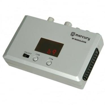 Universal RF Modulator Converter Scart Coaxial CCTV TV Aerial Video