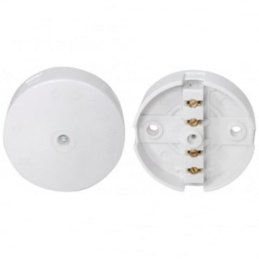 White Plastic Mains Junction Box 4 Terminals 20A Rated