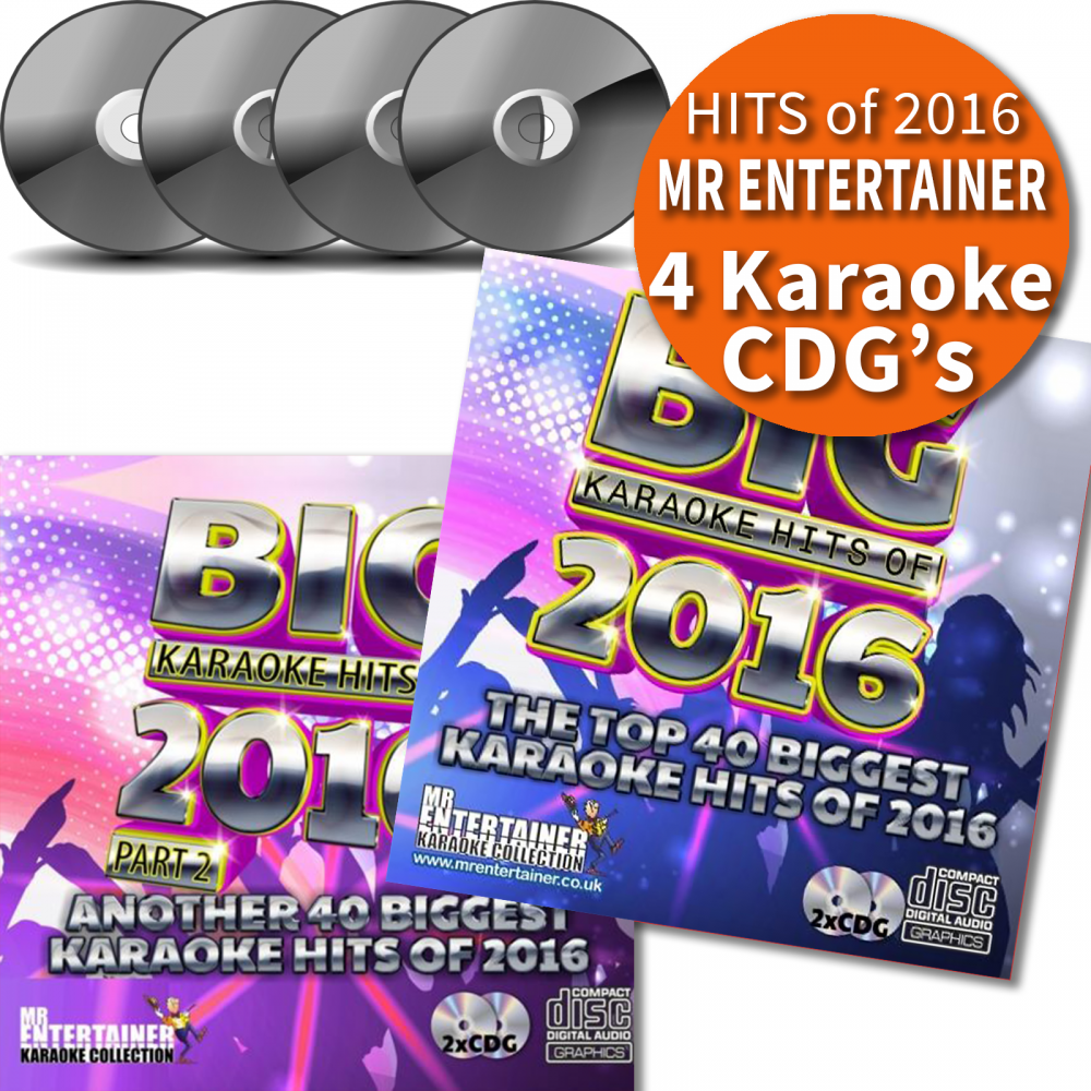 BIG Karaoke Hits of 2016 Four CD+G