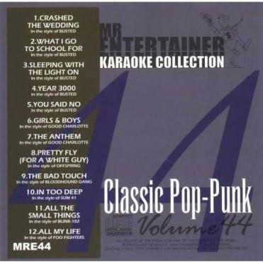 Karaoke CDG CD - Classics Pop Punk CD+G Disc