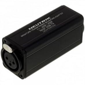 Balancing Adaptor NA2F-D0B-TX XLR Female To Phono RCA DI Transformer