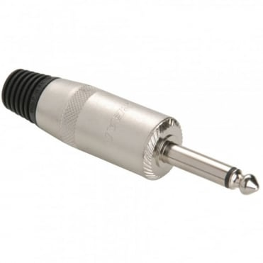 NYS225L 6.35mm Mono Jumbo Loudspeaker Jack Plug For 10mm Diameter Cable