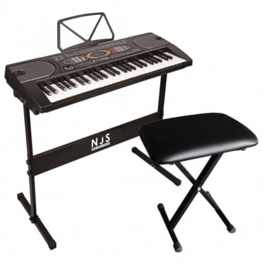 54 Key Digital Record / Playback Electronic Keyboard Inc Stand, Bench &  Headphones