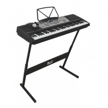 61 Key Full Size Digital Electronic Keyboard Kit Inc Stand & Headphones