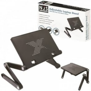 Adjustable Laptop / Tablet Stand With USB Fans Ideal For DJ Office