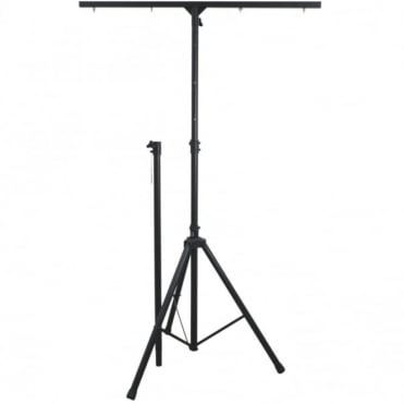 High Black Aluminium T Bar Lighting Stand 3.5M Max Height