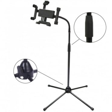 "Portable Tripod Tablet Stand For 7"" - 10"" Devices - Adj 900-1600mm Height"