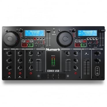 CD Mix USB CD/MP3 Player and DJ Controller with USB Playback and Displays