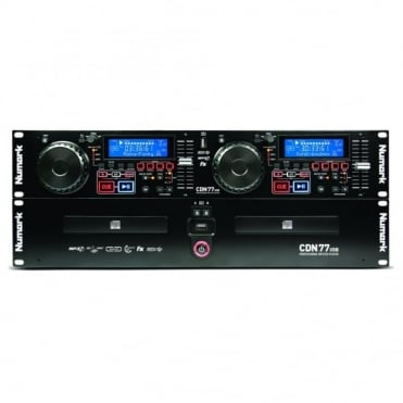 CDN77 USB Rack-Mount Professional Dual CD Player + dual USB drive support