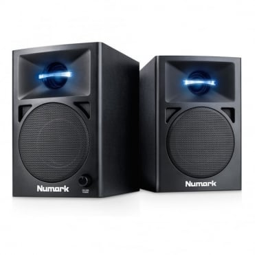 N-Wave 360 Compact Self Powered 60 Watt DJ Monitor Speakers