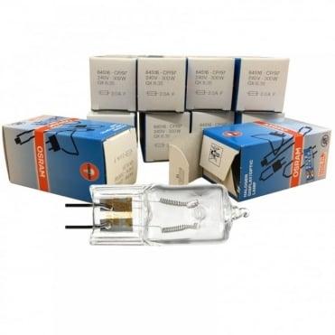 10 x 64516 240v 300w GX6.35 Osram CP97 Lamp - DJ Stage Theatre TV Studio Bulb