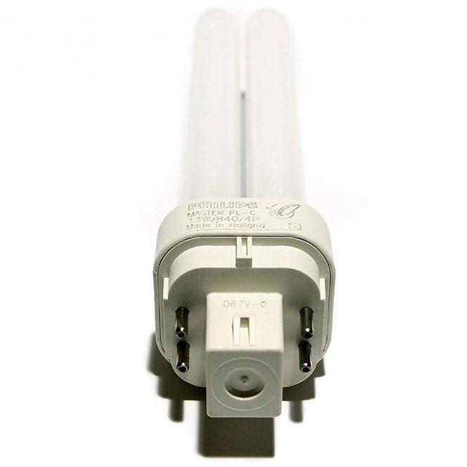 PHILIPS PL-C10W//840//4P 10W Cool White 4000k 4 pin Fluorescent Light Bulb