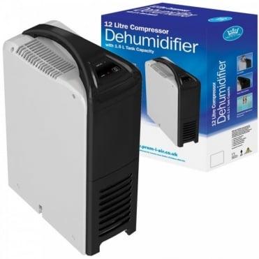 12L Compressor Dehumidifier with 1.5L Tank Capacity And Auto-Shut Off