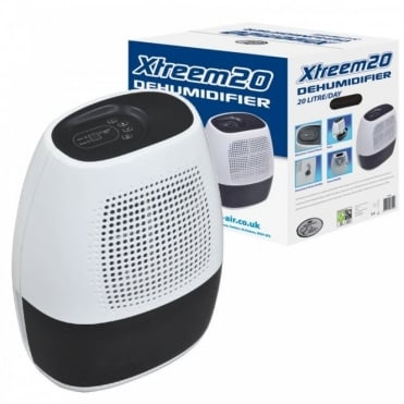 20L Xtreem 20 Dehumidifier 3L Tank Capacity & Variable Humidity Control