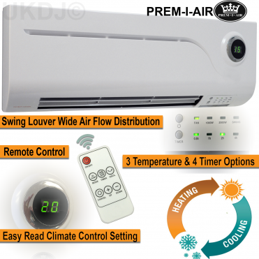 2kW PTC Over Door Heater/Fan with Remote Control and Timer