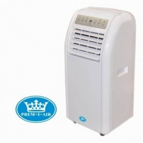 Prem-i-air 9000 BTU Portable Air Conditioner With Remote Control & Timer