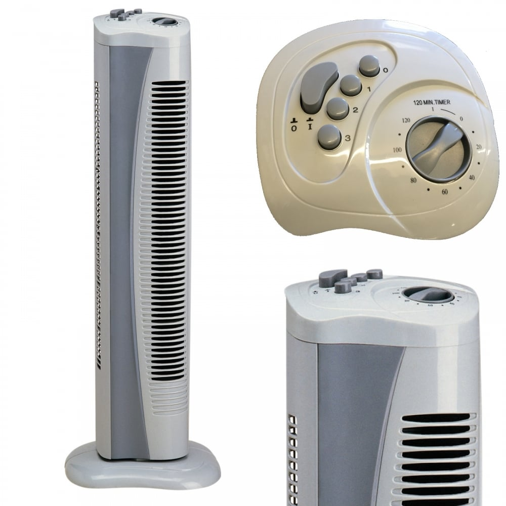 Slim Tower Fan with 3 Speed Settings & 2 Hour Timer