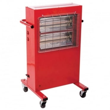 Heavy Duty 2kW Portable Commercial Work Garage Warehouse Halogen Heater