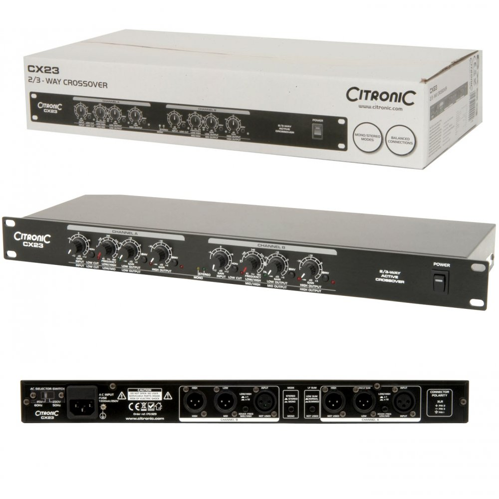 Citronic CX23 Active Crossover 2 Stereo 3 Way Mono Band Install PA ...