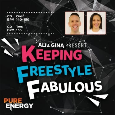 Ali & Gina Present Keeping Freestyle Fabulous Aerobics Fitness Music CD