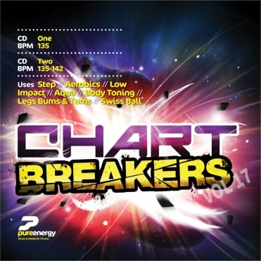 Chart Breakers Vol 17 Aerobics Fitness Continuous Music CD