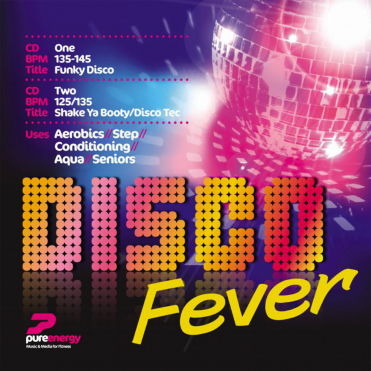Disco Fever Double Aerobics Fitness Continuous Megamix Music CD's Double Album