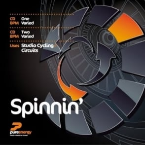 Spinnin Double Aerobics Fitness Music CD For Studio Cycling / Circuits