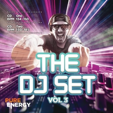 The DJ Set Vol 3 Double Aerobics Fitness Continuous Megamix Music CD