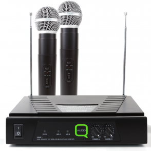 Q-Auido QWM11 Twin VHF (174.1 & 174.5) Wireless Radio Microphone System