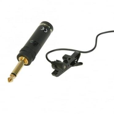 Black 1000 Ohm Sub Miniature Tie Clip Microphone Omni Directional 3.5mm Jack