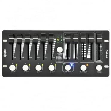DM-X6 Mini DMX PAR Controller Mixes RGB + W A V 6 Channel + Dimmer