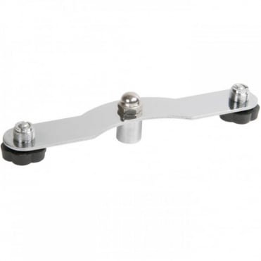 Dual Twin Mount Microphone Bar Adaptor For Stereo Miking On One Stand
