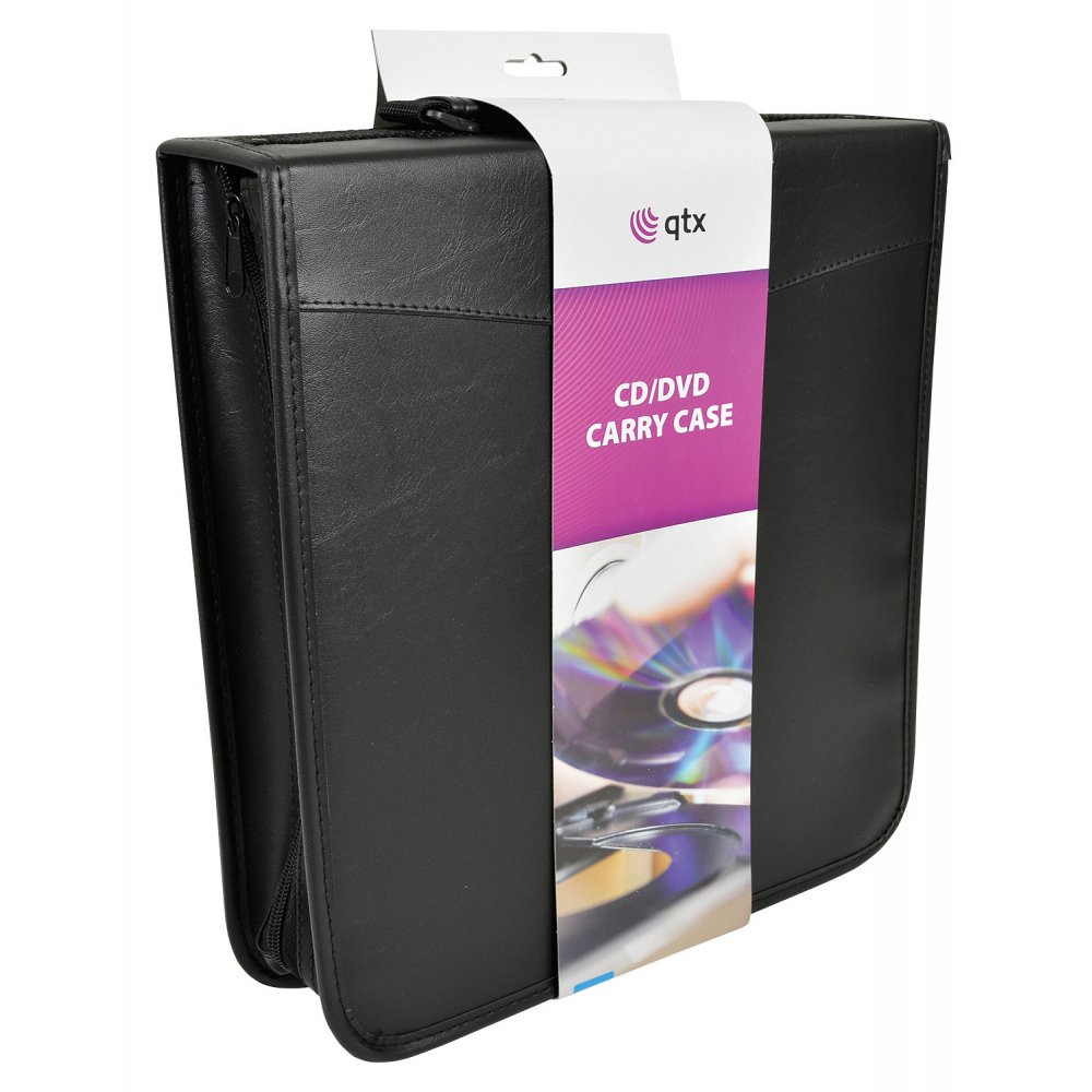 Faux Leather CD Case Holder Storage For 200 CDs DVDs Inc Free Double