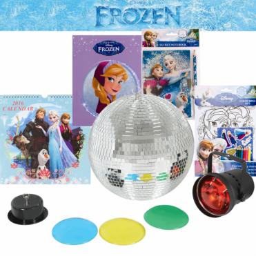 """Frozen 12"""" 30cm Mirror Ball Party Disco Set Kit Inc Book & Calendar"""