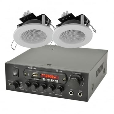 KAD-2BT Bluethooth Stereo Amplifier & 2 x Ceiling Speaker Set
