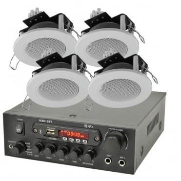 KAD-2BT Bluethooth Stereo Amplifier & 4 x Ceiling Speaker Set