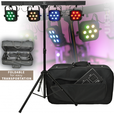 LED PAR Bar Portable Stage Wash Led Par Can System inc Stand & Case