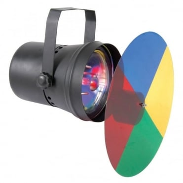 PAR36 Spot Light Projector Rotating Motor for 4 stage Colour Effect for Mirrorballs