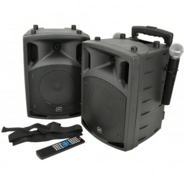 PAV8 Battery & Mains Portable PA Set With Bluetooth And CD/DVD Player