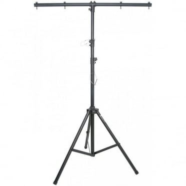 Robust Black Aluminium Lighting Stand With T-Bar