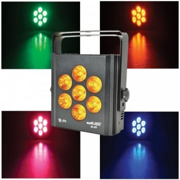 SL-H7 7 x 6-in-1 LED Light Effect RGBWA + UV DMX Static Fade & Strobe