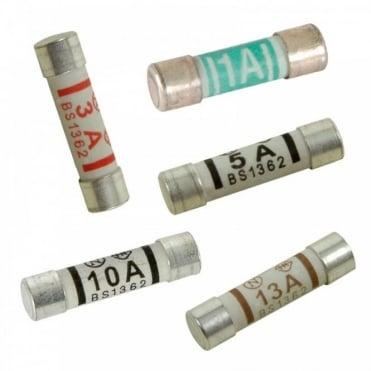 Range of Domestic Mains Fuses 1A 3A 5A 10A & 13A