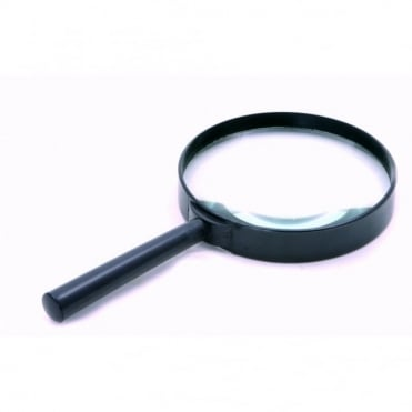 "100mm (4"") Hand Held Magnifying Glass Large Magnifier 3X Glass Lens"