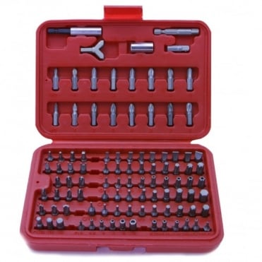 100pc All Purpose CV Power Bit Set & Adaptors Inc Case