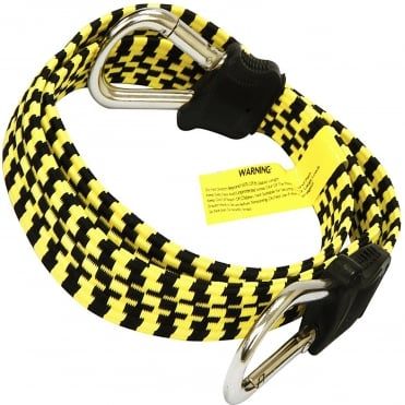 1200mm Flat D-Shape Carabiner Snap Hook Bungee Cord