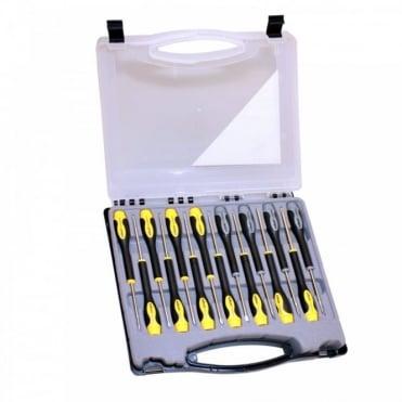 15 Piece Precision Screwdriver Set Including Clip Lock Case