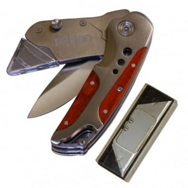 2 in 1 Heavy Duty Tradesman Knife with Spare Blades