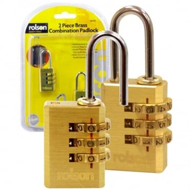 2pc Combination Padlocks Suitcase Lock with Solid Brass Body & Cylinder